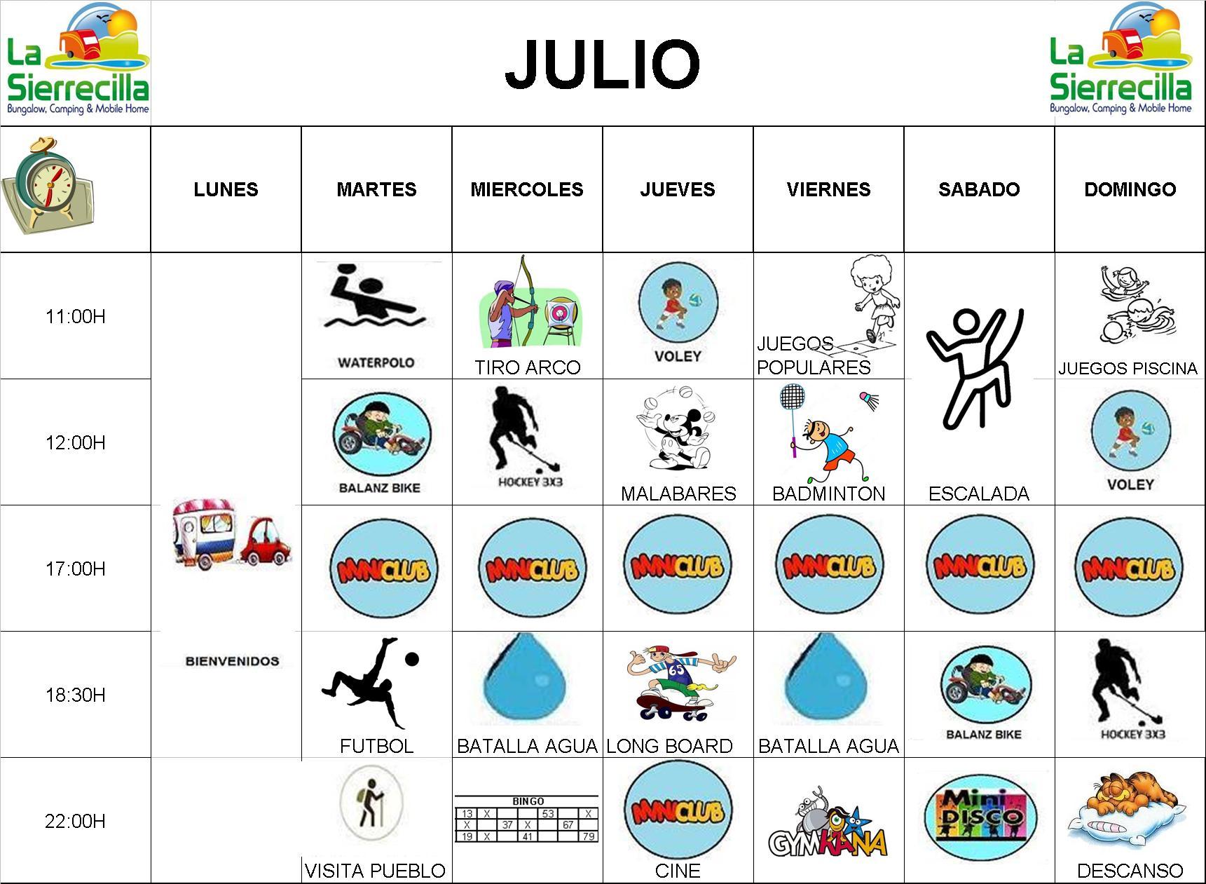 PROGRAMA 2 JULIO sierre 1 - Program activities July 2018